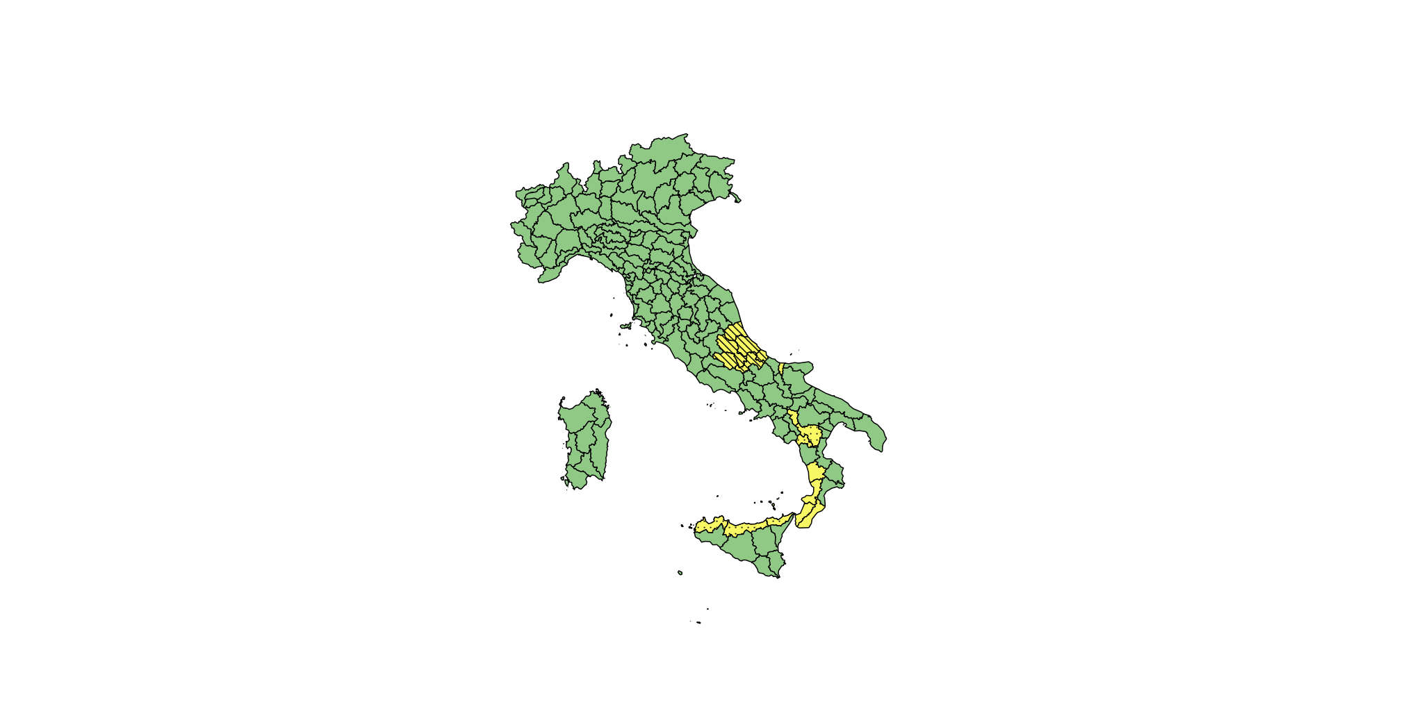 Allerta Gialla centro e sud Italia